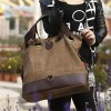 cheap Casual Style Canvas and Splice Design Women's Shoulder Bag
