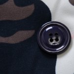 best Stylish Hooded Slimming Camo Print Button Design Long Sleeve Thicken Cotton Blend Coat For Men