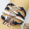 cheap Infinity Tree of Life Elephant Multilayered Friendship Bracelet