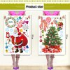 2Pcs Removable Home Decor Novelty Santa Claus and Xmas Tree Pattern Wall Sticker Art Mural Christmas Outfit for sale