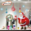2Pcs Removable Home Decor Novelty Santa Claus and Xmas Tree Pattern Wall Sticker Art Mural Christmas Outfit deal