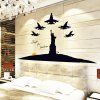 Removable Home Decor Novelty Glow Luminous Statue of Liberty Pattern Wall Sticker Art Mural Christmas Home Ornament for sale