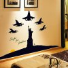 Removable Home Decor Novelty Glow Luminous Statue of Liberty Pattern Wall Sticker Art Mural Christmas Home Ornament deal