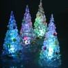 cheap 4Pcs 12cm Mini Christmas Crystal Tree with Colorful LED Light for Christmas Tree Ornament