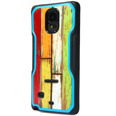 ФОТО Fashionable Wood Texture Pattern PC and TPU Back Case Cover for Samsung Galaxy Note4 N9100