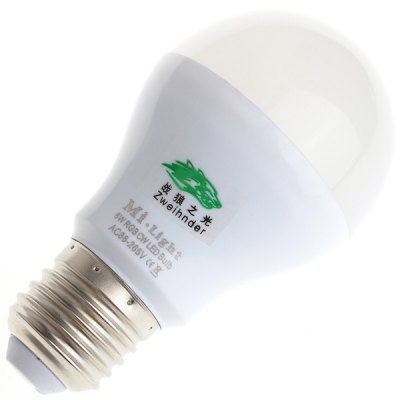 3 Pcs Zweihnder E27 6W 500LM Light 2.4GHz Dimmable Remote Controlled Bulb Lamp with Controller  -  500Lm 3000 - 6000K
