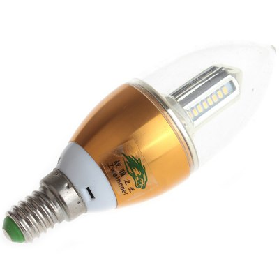 Zweihnder SMD - 3014 x 32 LEDs E14 4W Flamed Bulb Warm White 380 Lumens Candle Light