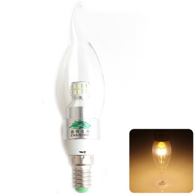 Zweihnder E14 3W 30 SMD-3014 Warm White Candle Bulb