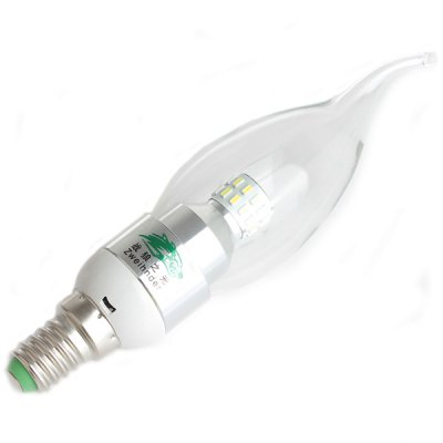 Zweihnder SMD - 3014 x 30 LEDs E14 3W Tail - drawing Bulb Warm White 280 Lumens Candle Light