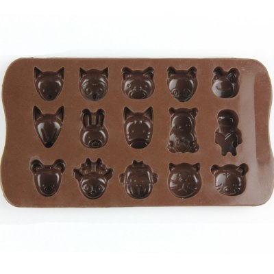 Lovely Animals Style Chocolate Pudding Ice Cube Tray