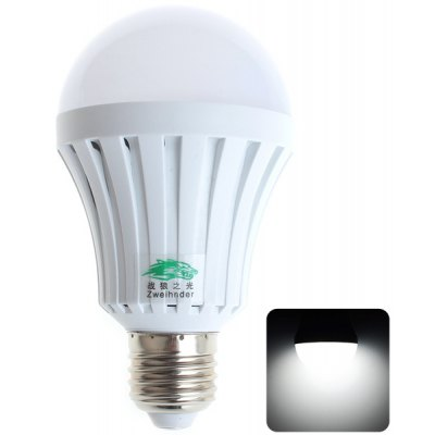 Zweihnder E27 7W 25 SMD-2835 White Light Emergency Ball Bulb