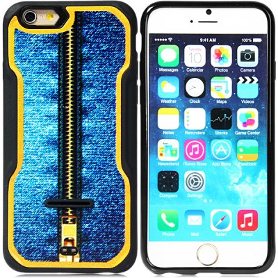Fashionable Closed Zipper Pattern PC and TPU Back Case Cover for iPhone 6  -  4.7 inchesiPhone Cases/Covers<br>Fashionable Closed Zipper Pattern PC and TPU Back Case Cover for iPhone 6  -  4.7 inches<br><br>Compatible for Apple: iPhone 6<br>Features: Back Cover<br>Material: TPU, Plastic<br>Style: Special Design<br>Product weight : 0.033 kg<br>Package weight : 0.053 kg<br>Product size (L x W x H): 14 x 6.9 x 1 cm / 5.5 x 2.7 x 0.4 inches<br>Package contents: 1 x Case