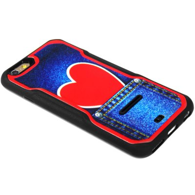 Fashionable Heart Pattern PC and TPU Back Case Cover for iPhone 6  -  4.7 inches