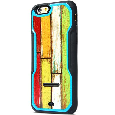 ФОТО Fashionable Wood Texture Pattern PC and TPU Back Case Cover for iPhone 6  -  4.7 inches