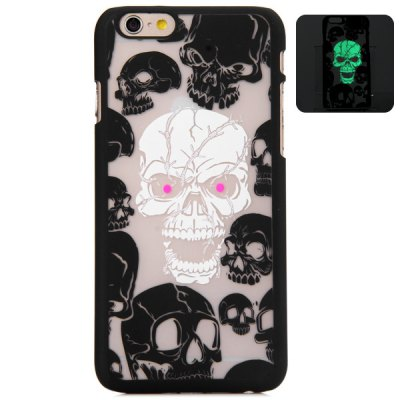 ФОТО New Dual Colors Fluorescent Transparent PC Back Case Cover of Skull Pattern for iPhone iPhone 6  -  4.7 inches