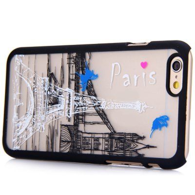 ФОТО New Dual Colors Fluorescent Transparent PC Back Case Cover of Tower and Bridge Pattern for iPhone iPhone 6  -  4.7 inches