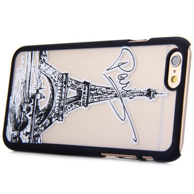 ФОТО New Dual Colors Fluorescent Transparent PC Back Case Cover of Iron Tower Pattern for iPhone iPhone 6  -  4.7 inches