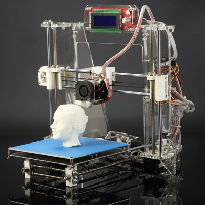 Фотография JGAURORA Z - 605S DIY Acrylic Frame Reprap Prusa I3 LCD Screen 3D Printer Self - replicating Exclusive Injection Molded for Education  -  US Plug