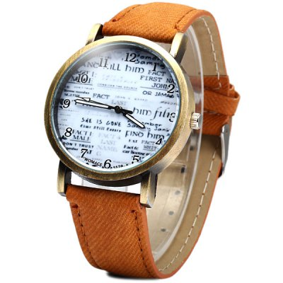 Гаджет   WoMaGe 1128 - 5 Words Quartz Watch Round Dial Leather Band for Woman Women