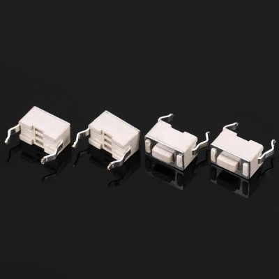 Practical Nylon PP6 Electronic DC 12V 50mA Tact Switches for DIY Project  -  100PCS