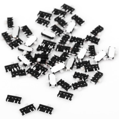 MK - 13C01 PA66 DC6V 0.3A DIY Mini Slide Switches for Electronic Components  -  50PCS