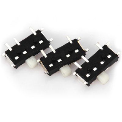 MK - 13C01 PA66 DC6V 0.3A DIY Mini Slide Switches for Electronic Components  -  50PCSDIY Parts &amp; Components<br>MK - 13C01 PA66 DC6V 0.3A DIY Mini Slide Switches for Electronic Components  -  50PCS<br><br>Model: MK-13C01<br>Material: PA66<br>Product Weight: 0.005 kg<br>Package Weight: 0.045 kg<br>Product Size(L x W x H): 0.7 x 0.5 x 0.1 cm / 0.3 x 0.2 x 0.04 inches<br>Package Size(L x W x H): 10.0 x 7.0 x 0.5 cm<br>Package Contents: 50 x MK-13C01 PA66 DC6V 0.3A DIY Mini Slide Switches