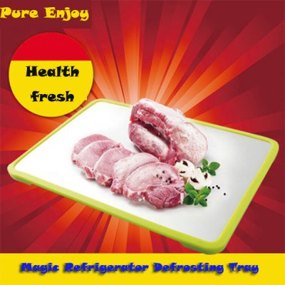 Practical Rapid Defrosting Tray Food Fresh Keeping Aluminium Thaw Tray Kitchen Necessary