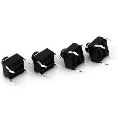 Durable PA66 Tact Switches 6 x 6 x 6mm ( DC 12V 50mA ) for Electronics DIY  -  100PCS