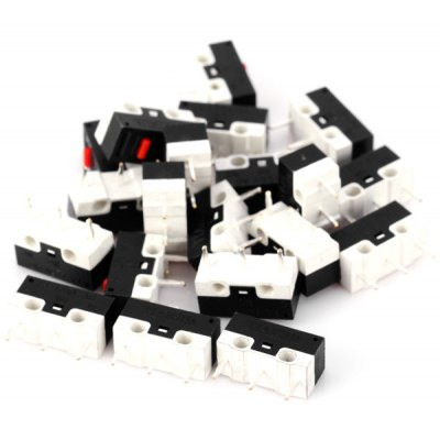 Durable DC 125V 1A Mouse Micro Switches for Electronics DIY  -  20PCS