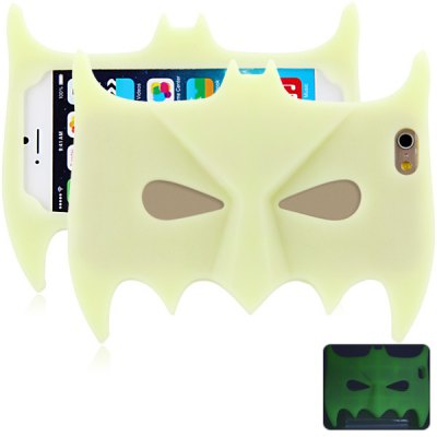 Batman Mask Style Silicone Material Back Cover Case for iPhone 6  -  4.7 inches