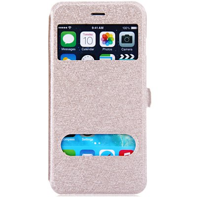 Гаджет   Stylish PU Leather and PC Material Dual View Windows Design Cover Case with Stand Function for iPhone 6 Plus - 5.5 inches
