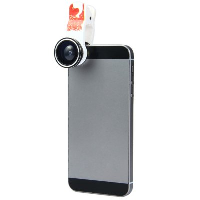 Fashionable Xmas - deer Pattern 3 in 1 Clamp Camera Lens Including Fisheye Macro and Wide Angle