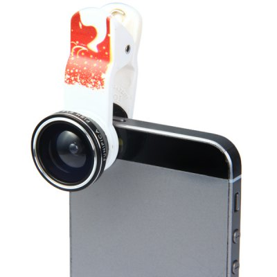 Fashionable Xmas - tree Pattern 3 in 1 Clamp Camera Lens Including Fisheye Macro and Wide Angle