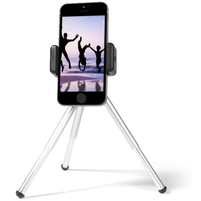 Phone Holder Tripod Mount with Clip Stand