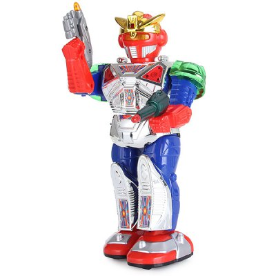 Cool Walking Super Robot with Light Sound Body Turning Functions  -  28035Movies &amp; TV  Dolls<br>Cool Walking Super Robot with Light Sound Body Turning Functions  -  28035<br><br>Type: Intelligence toys<br>Age: 3 Years+<br>Material: Plastic<br>Design Style: Cartoon<br>Features: Movie and TV<br>Puzzle Style: Common<br>Small Parts : No<br>Washing : No<br>Applicable gender: Boys<br>Package Weight   : 0.41 kg<br>Package Size (L x W x H)  : 16 x 9.8 x 37.2 cm<br>Package Contents: 1 x Box-packed Robot