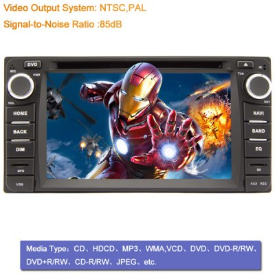 Гаджет   6.2 inch 2 Din TFT Screen Car DVD Player with Bluetooth Radio GPS Functions for Toyota Car DVD Players