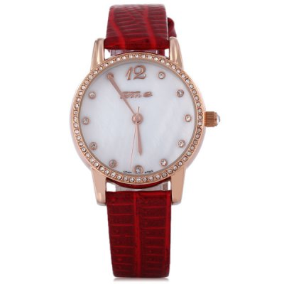 Фотография Tine 5012L Women Quartz Watch 30M Water Resisitant Diamond Leather Strap Round Dial