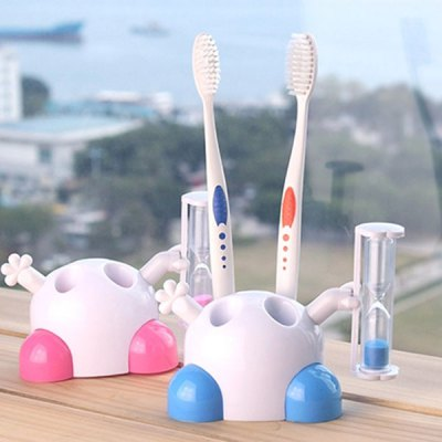 Innovative Multi - functional Toothbrush Holder Flexible Three Minutes Rotate Hourglass Children Brushing Timer Christmas Gift
