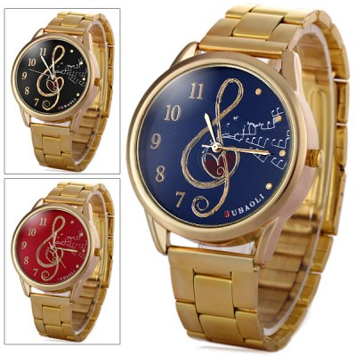 Jubaoli Male Quartz Watch Steel Strap Round Dial with Note PatternMens Watches<br>Jubaoli Male Quartz Watch Steel Strap Round Dial with Note Pattern<br><br>Watches categories: Male table<br>Watch style: Fashion<br>Available color: Blue, Black, Red<br>Movement type: Quartz watch<br>Shape of the dial: Round<br>Display type: Analog<br>Case material: Stainless steel<br>Band material: Steel<br>Clasp type: Folding clasp with safety<br>The dial thickness: 1.0 cm / 0.4 inches<br>The dial diameter: 4.1 cm / 1.6 inches<br>The band width: 1.8 cm / 0.7 inches<br>Product weight: 0.068 kg<br>Product size (L x W x H): 13.5 x 4.1 x 1.0 cm / 5.3 x 1.6 x 0.4 inches<br>Package Contents: 1 x Watch