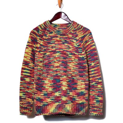 Гаджет   Stylish Round Neck Slimming Colorful Yarn Design Long Sleeve Thicken Cotton Blend Sweater For Men Sweaters & Cardigans