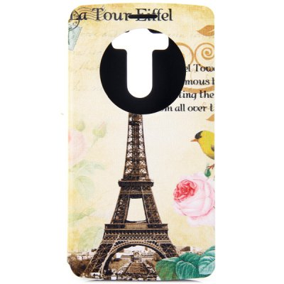 ФОТО Fashionable Eiffel Tower Pattern PC and PU Material Cover Case for LG G3