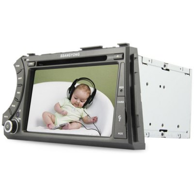 Гаджет   7 inch 2 Din TFT Screen In - Dash Car DVD Player with Bluetooth Radio ATV GPS WiFi iPod Functions for Ssangyong Acyton Kyron Car DVD Players