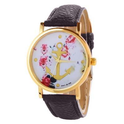 Anchor Design Printed Watch For Women
