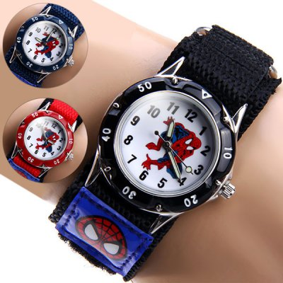 Spider Man Quartz Watch Round Dial Velcro Nylon Strap for ChildrenKids Watches<br>Spider Man Quartz Watch Round Dial Velcro Nylon Strap for Children<br><br>Watches categories: Children watch<br>Watch style: Fashion<br>Available Color: Black, Red, Blue<br>Movement type: Quartz watch<br>Shape of the dial: Round<br>Display type: Analog<br>Case material: Stainless steel<br>Band material: The other<br>The dial thickness: 1.0 cm / 0.4 inches<br>The dial diameter: 3.2 cm / 1.3 inches<br>The band width: 2.3 cm / 1.9 inches<br>Product weight: 0.026 kg<br>Product size (L x W x H) : 18.5 x 3.2 x 1.0 cm / 7.3 x 1.3 x 0.4 inches<br>Package contents: 1 x Watch