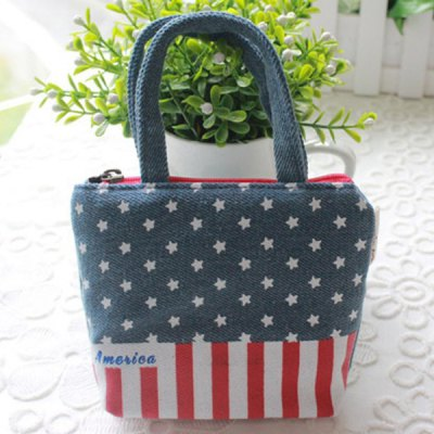 Fashionable Americanism Coin Phone Bag Wallet Purse Mini Handbag Perfect Gift
