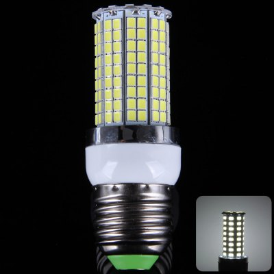 8W E27 SMD - 2835 180 LEDs 800Lm Corn Light with Silver Edge