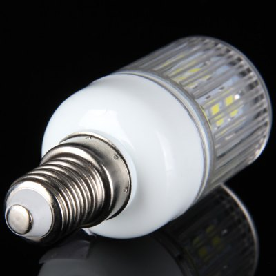 E14 10W SMD  -  5630 24  -  LEDs 900Lm 6000  -  6500K Stripy Shaded Corn Light (220  -  240V)LED Light Bulbs<br>E14 10W SMD  -  5630 24  -  LEDs 900Lm 6000  -  6500K Stripy Shaded Corn Light (220  -  240V)<br><br>Base Type: E14<br>Type: Corn Bulbs<br>Output Power: 10W<br>Emitter Type: SMD-5630 LED<br>Total Emitters: 24 LEDs<br>Actual Lumen(s): 900Lm<br>Voltage (V): AC 220-240<br>Appearance: Striped Cover<br>Features: Energy Saving, Low Power Consumption, Long Life Expectancy<br>Function: Studio and Exhibition Lighting, Home Lighting, Commercial Lighting<br>Available Light Color: Cold White, Warm White<br>Sheathing Material: Plastic<br>Product Weight: 0.022 kg<br>Package Weight: 0.045 kg<br>Product Size (L x W x H): 8 x 3 x 3 cm / 3.15 x 1.18 x 1.18 inches<br>Package Size (L x W x H): 9 x 4 x 4 cm<br>Package Contents: 1 x Energy Saving E14 10W 24 SMD - 5630 220 - 240V Corn Bulb