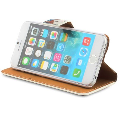 Гаджет   4.7inch Tea Cat Style Leather Protective Case Cover for iPhone 6 iPhone Cases/Covers