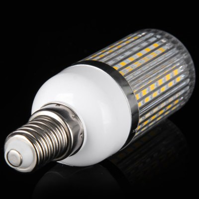 E14 18W 1650LM 56 x SMD 5630 Warm White LED Corn Bulb with Striped Cover  -  3000  -  3200K