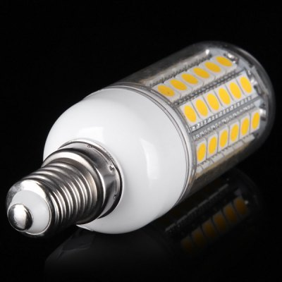 18W E14 1650Lm SMD  -  5050 69 LEDs 3000  -  3200K Corn Bulb 100  -  120V Transparent BulbLED Light Bulbs<br>18W E14 1650Lm SMD  -  5050 69 LEDs 3000  -  3200K Corn Bulb 100  -  120V Transparent Bulb<br><br>Base Type: E14<br>Type: Corn Bulbs<br>Output Power: 18W<br>Emitter Type: SMD-5050 LED<br>Total Emitters: 69 LEDs<br>Actual Lumen(s): 1650Lm<br>Voltage (V): AC 100-120V<br>Appearance: Transparent Shade<br>Features: Long Life Expectancy, Low Power Consumption, Energy Saving<br>Function: Studio and Exhibition Lighting, Commercial Lighting, Home Lighting<br>Available Light Color: Cold White, Warm White<br>Sheathing Material: Plastic<br>Product Weight: 0.033 kg<br>Package Weight: 0.055 kg<br>Product Size (L x W x H): 9.8 x 2.9 x 2.9 cm / 3.66 x 1.14 x 1.14 inches<br>Package Size (L x W x H): 11 x 4 x 4 cm<br>Package Contents: 1 x Ultra Bright E14 18W 69 SMD-5050 LEDs 1650Lm 100 - 120V Corn Bulb